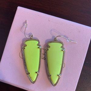 Rare Kendra Scott neon yellow earrings